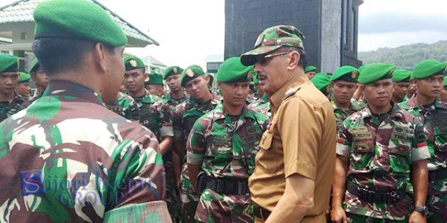 "Bupati Natuna Silaturahmi Bersama ""BATALYON KOMPOSIT 1/GARDAPATI"""