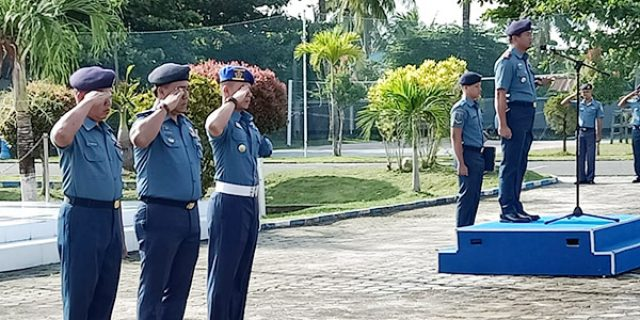 Upacara, Danlanal Ranai Bacakan Amanat Panglima TNI
