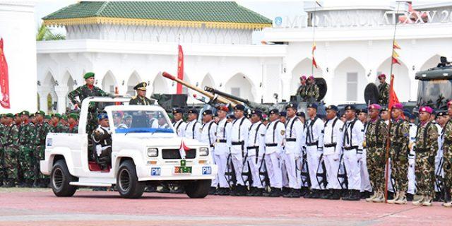 1.700 Personil Sukseskan Upacara HUT TNI ke 74