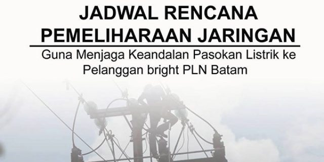 "Jadwal Pemadaman bright PLN Batam ""SELASA, 25 SEPTEMBER 2018"""