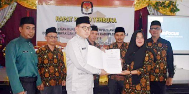 KPU Lingga Tetapkan 20 Calon Terpilih Anggota DPRD Lingga
