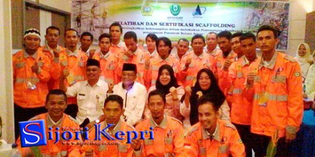 "Karyawan Shipyard Se-Kabupaten Karimun ""IKUTI PELATIHAN dan SERTIFIKASI SCAFFOLDING"""