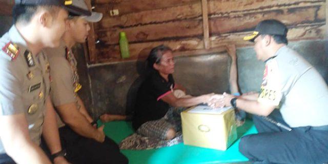 Polres dan SPS Karimun Beri Bantuan Warga Kurang Mampu