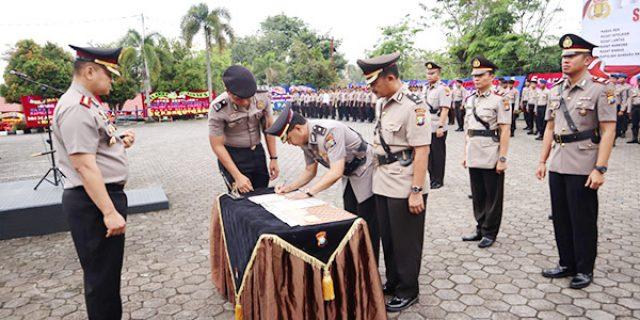 Enam Pejabat Polres Tanjungpinang Pindah Tugas