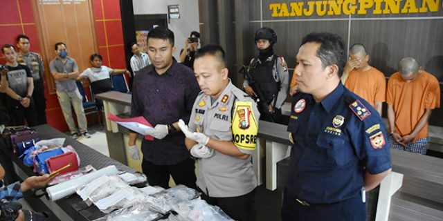 Polres Tanjungpinang Amankan Tiga Pelaku Narkotika