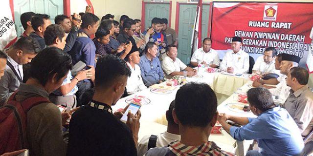 """Pimpin Partai Gerindra Kepri """"SYAHRUL, DAPAT UCAPAN dari ADE ANGGA"""""""