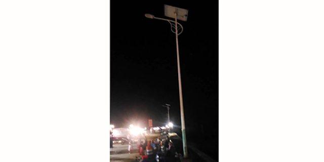 Panel Lampu Tenaga Surya di Coastal Area Karimun Raib