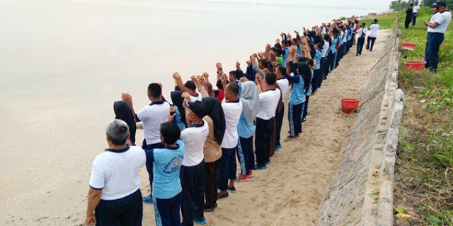 Lanal Ranai Laksanakan Gerakan Menghadap Laut 74