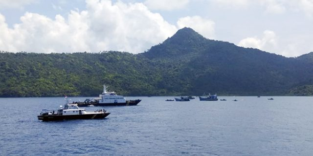 Tujuh Kapal Ikan Asing Ditenggelamkan di Natuna