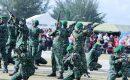 HPN Ke 73 Natuna, Batalyon Komposit 1/Gardapati Tampilkan Atraksi Kolone Senapan