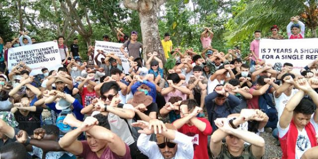 Kantor IOM Tanjungpinang Didatangi Ratusan Imigran