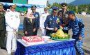 Danlanud RSa Ranai Pimpin Upacara HUT TNI Ke 74