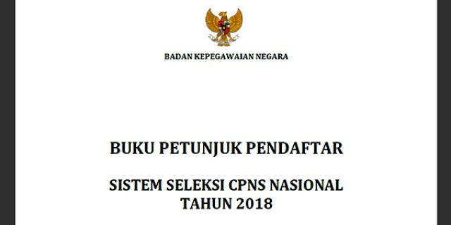 "Ini Petunjuk Pendaftaran ""SELEKSI CPNS"" Tahun 2018"
