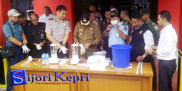 """Polres Karimun Musnahkan Narkoba """"HASIL TANGKAPAN 2017"""""""