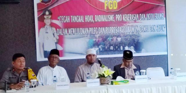 Sukseskan Pemilu 2019, Polres Natuna Gelar FGD