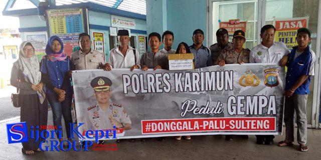 "Polsek KKP Polres Karimun ""GALANG DANA"" Musibah Palu-Donggala"