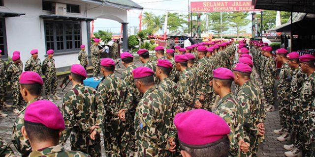 HUT Ke 74 Korps Marinir, Prajurit Yonmarhanlan IV Laksanakan Upacara