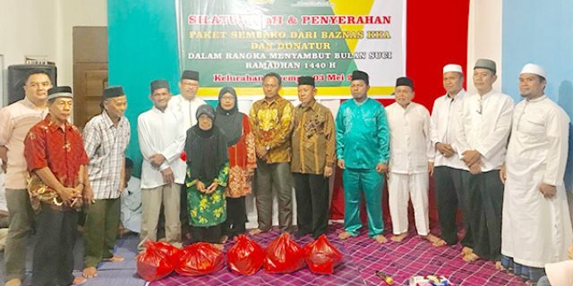 Sambut Ramadhan, BAZNAS Anambas Bagikan 100 Paket Sembako