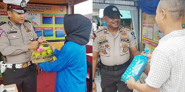 Mahasiswi dan Pengusaha Emas Datangi Posko Pengamanan