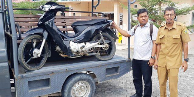 Polsek Tebing Amankan 1 Unit Motor Honda Karisma