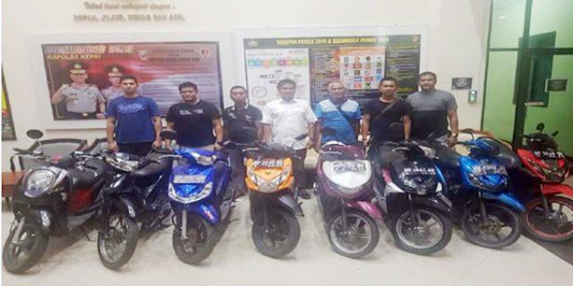 Polda Kepri Amankan Empat Pelaku Pencurian Sepeda Motor