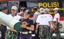 TNI dan Polri di Karimun Gelar Baksos Bersama
