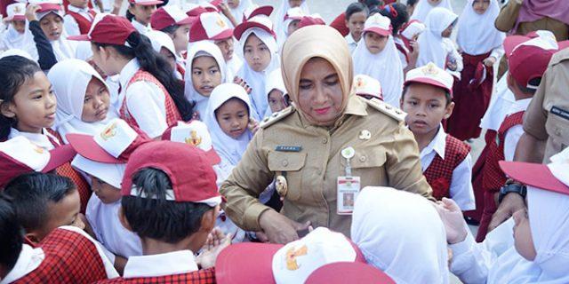 Rahma Beri Motivasi Siswa SDN 016 Tanjungpinang Timur