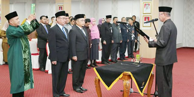 Syahrul Lantik 2 Pejabat Pimpinan Tinggi Pratama
